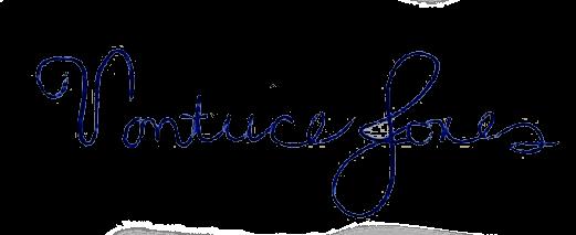 Vontice Jones' signature